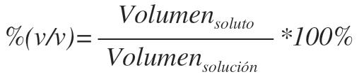 porcentaje en volumen