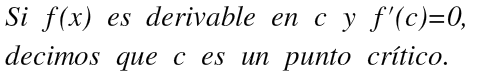primera derivada en maximos y minimos